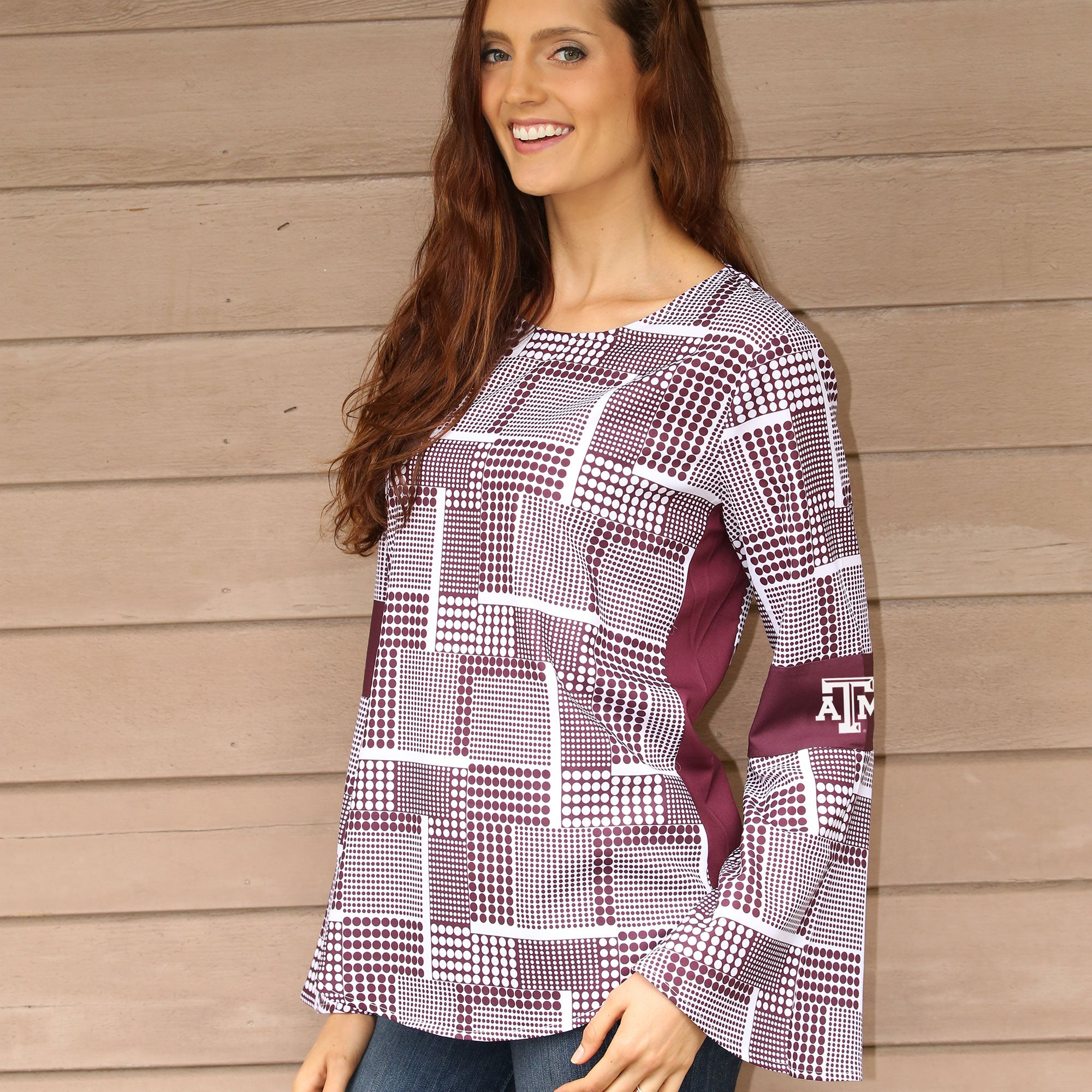TEXAS A&M AGGIES ERIN BELL SLEEVE TOP