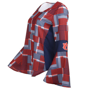 AUBURN TIGERS ERIN  BELL SLEEVE TOP