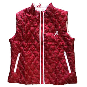 ALABAMA CRIMSON TIDE REVERSIBLE PUFFER VEST