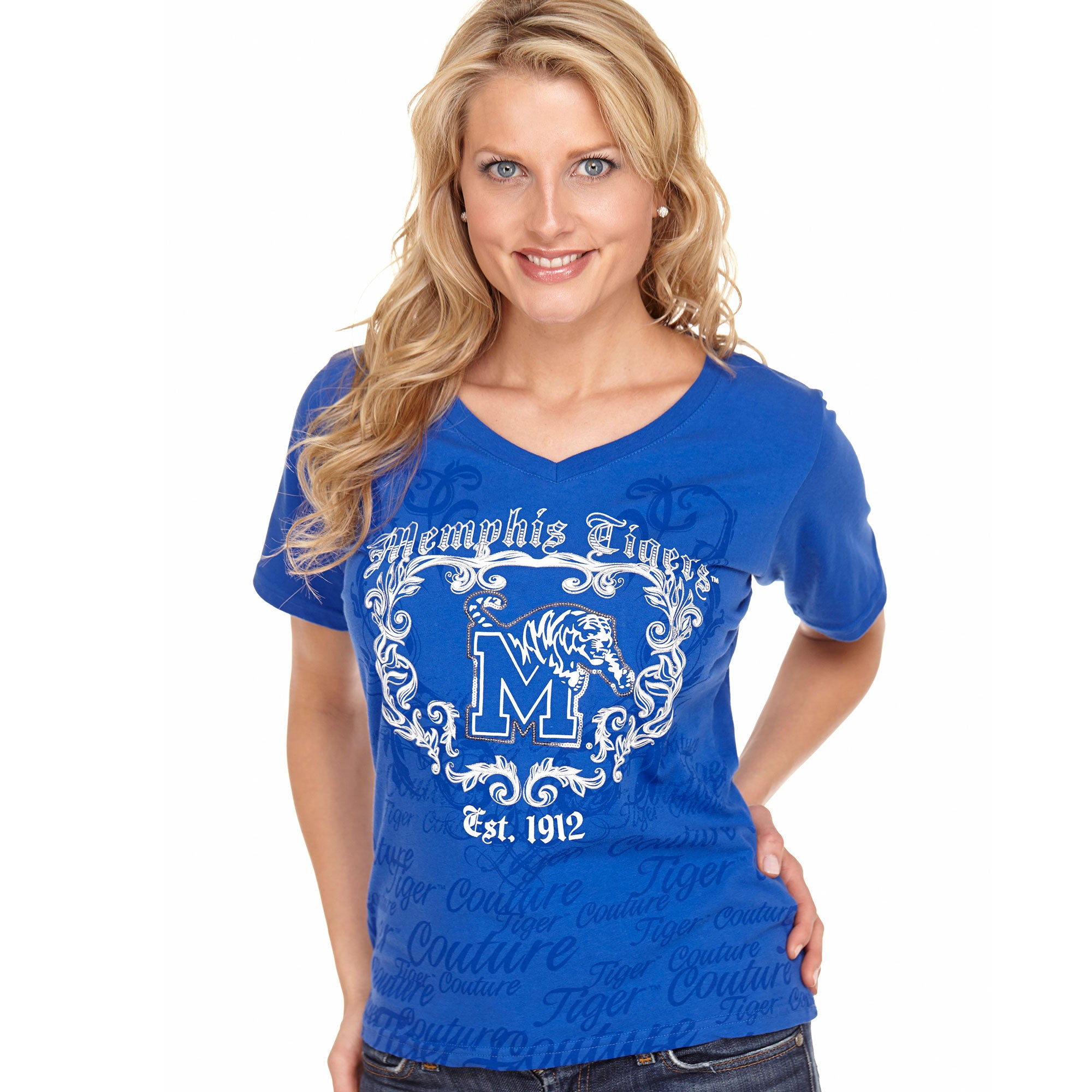 Memphis Tigers Sequin Couture Tee
