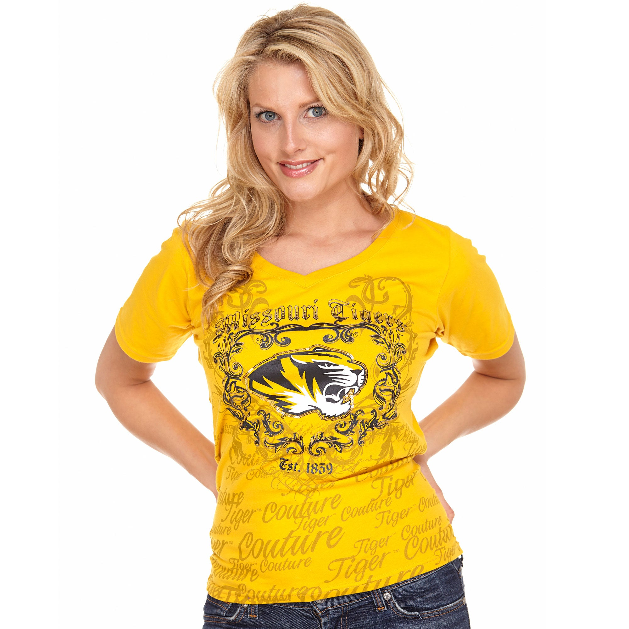 Missouri Tigers Sequin Couture Tee