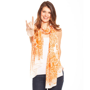 TEXAS LONGHORNS LACE PRINT SCARF
