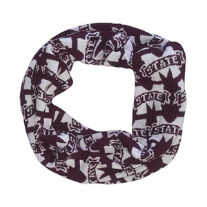 MISSISSIPPI STATE BULLDOGS LOGO INFINITY SCARF
