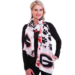 Georgia Bulldogs Animal Print Scarf