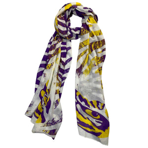 LSU Tigers Animal Print Scarf