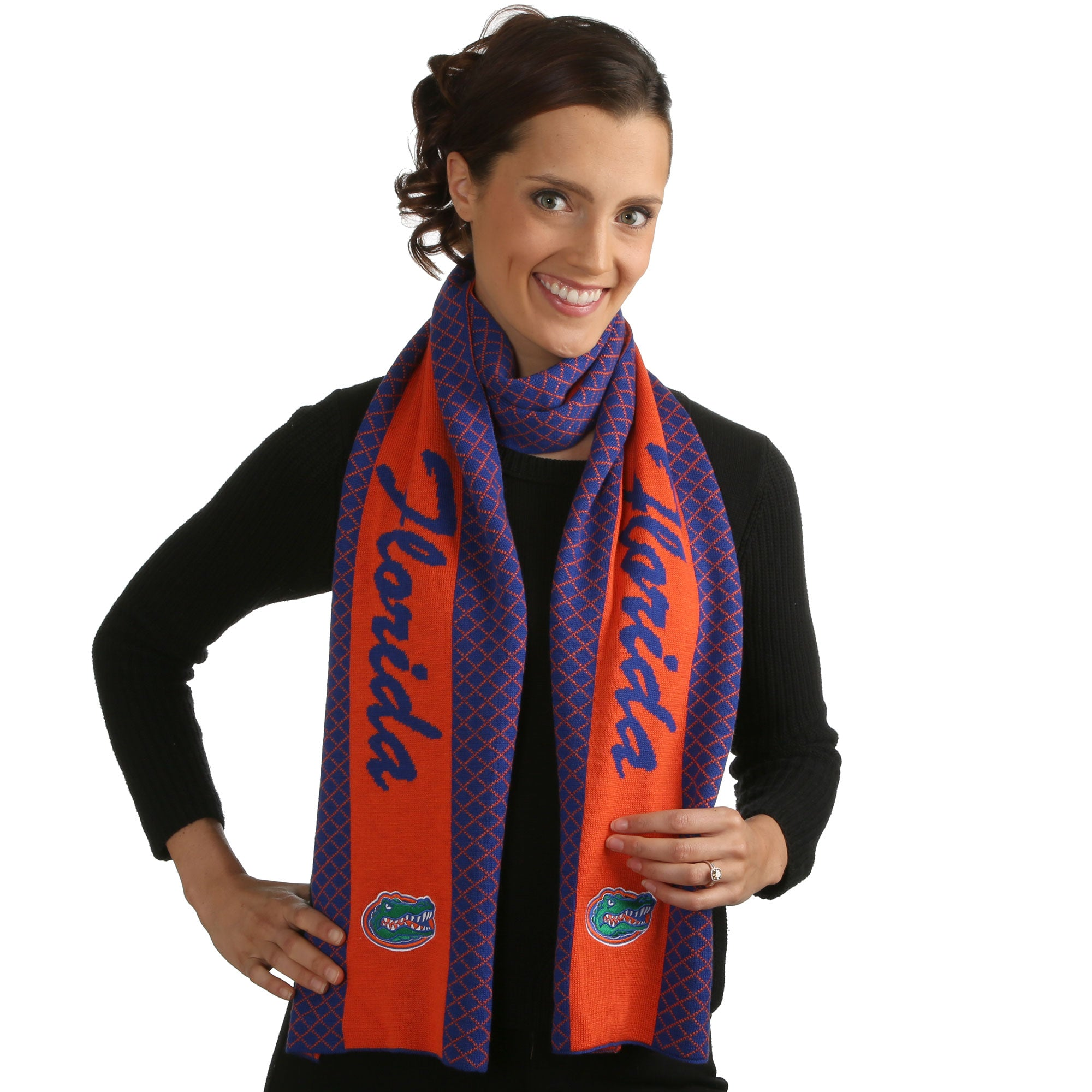 FLORIDA GATORS 2 TONE KNIT SCARF