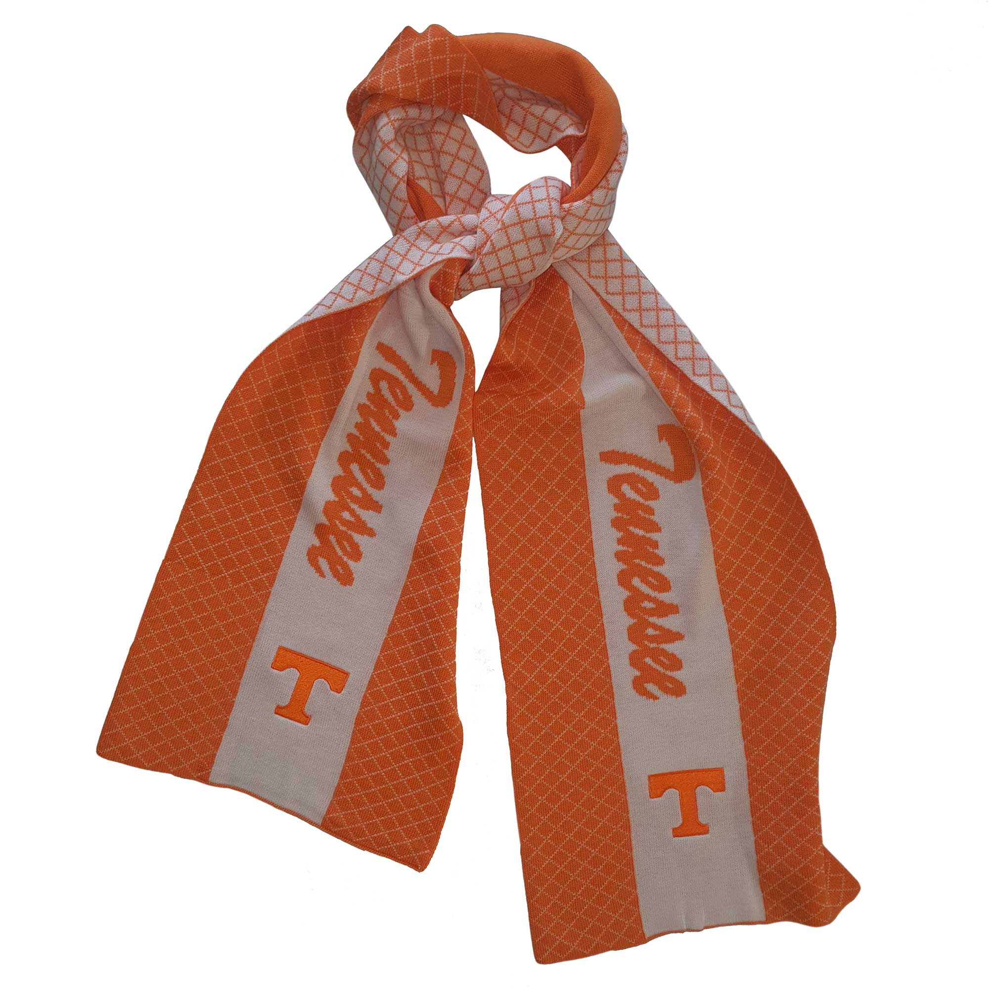 TENNESSEE VOLUNTEERS 2 TONE KNIT SCARF