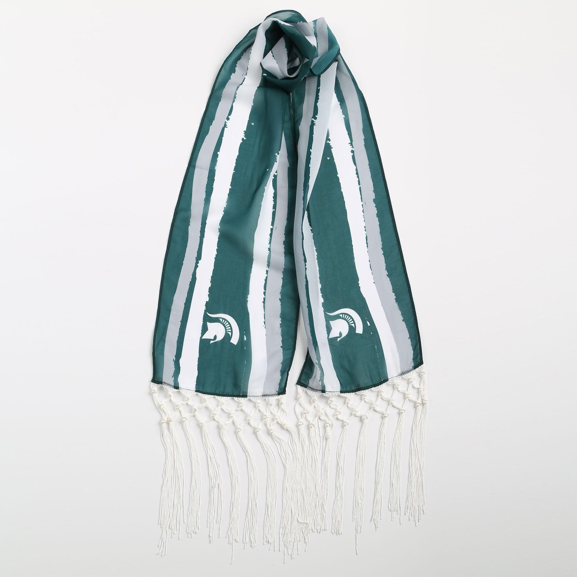 MICHIGAN STATE SPARTANS DINA FRINGE SCARF