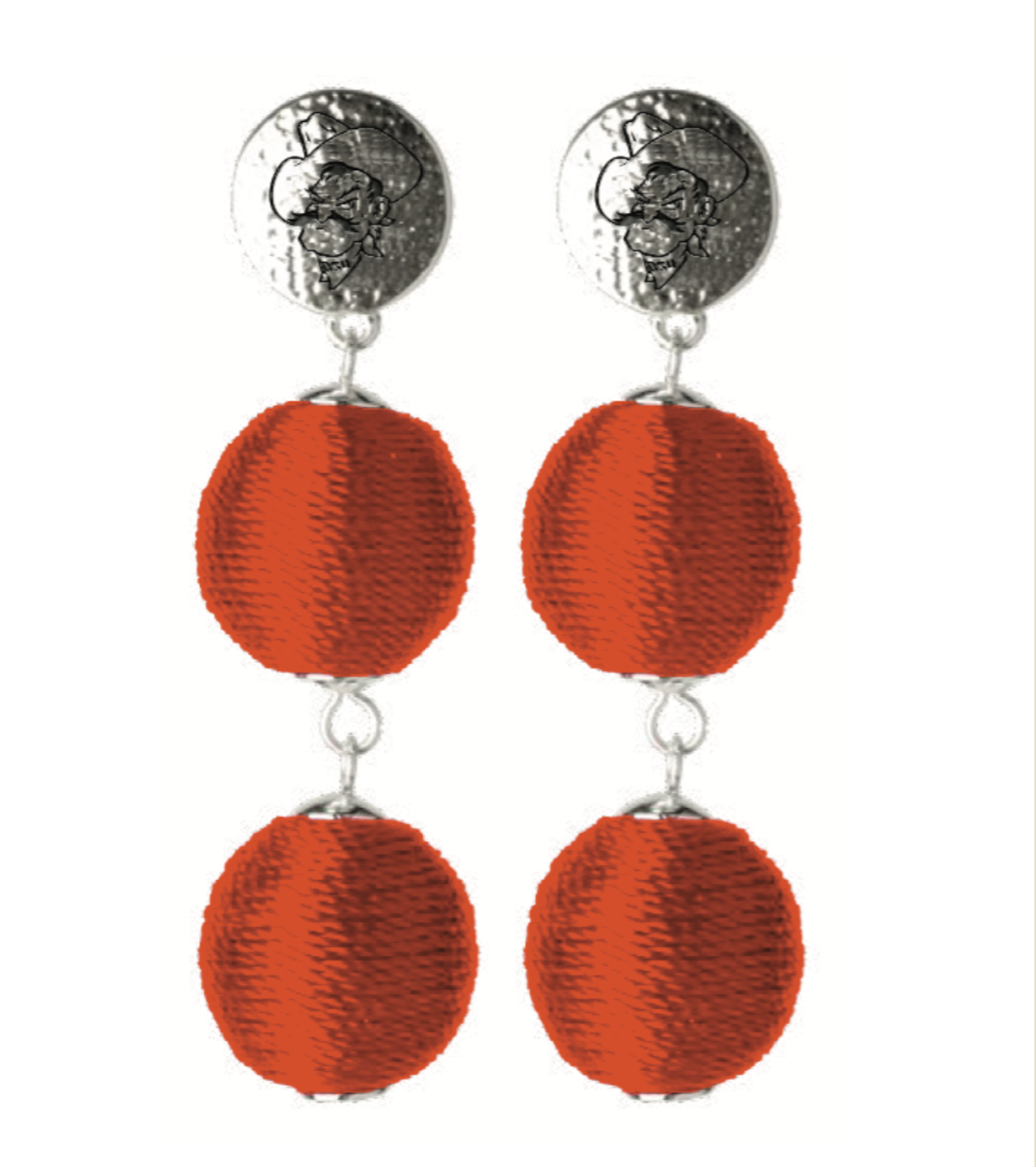 OKLAHOMA STATE COWBOYS SONATA EARRINGS
