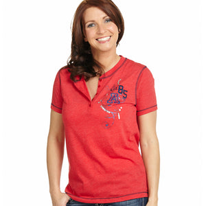 Arizona Wildcats Heather Henley Short Sleeve Top