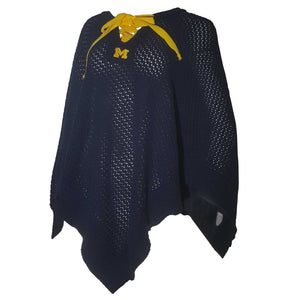 MICHIGAN WOLVERINES KENDALL KNIT PONCHO