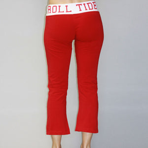 Alabama Crimson Tide Crop Yoga Pant