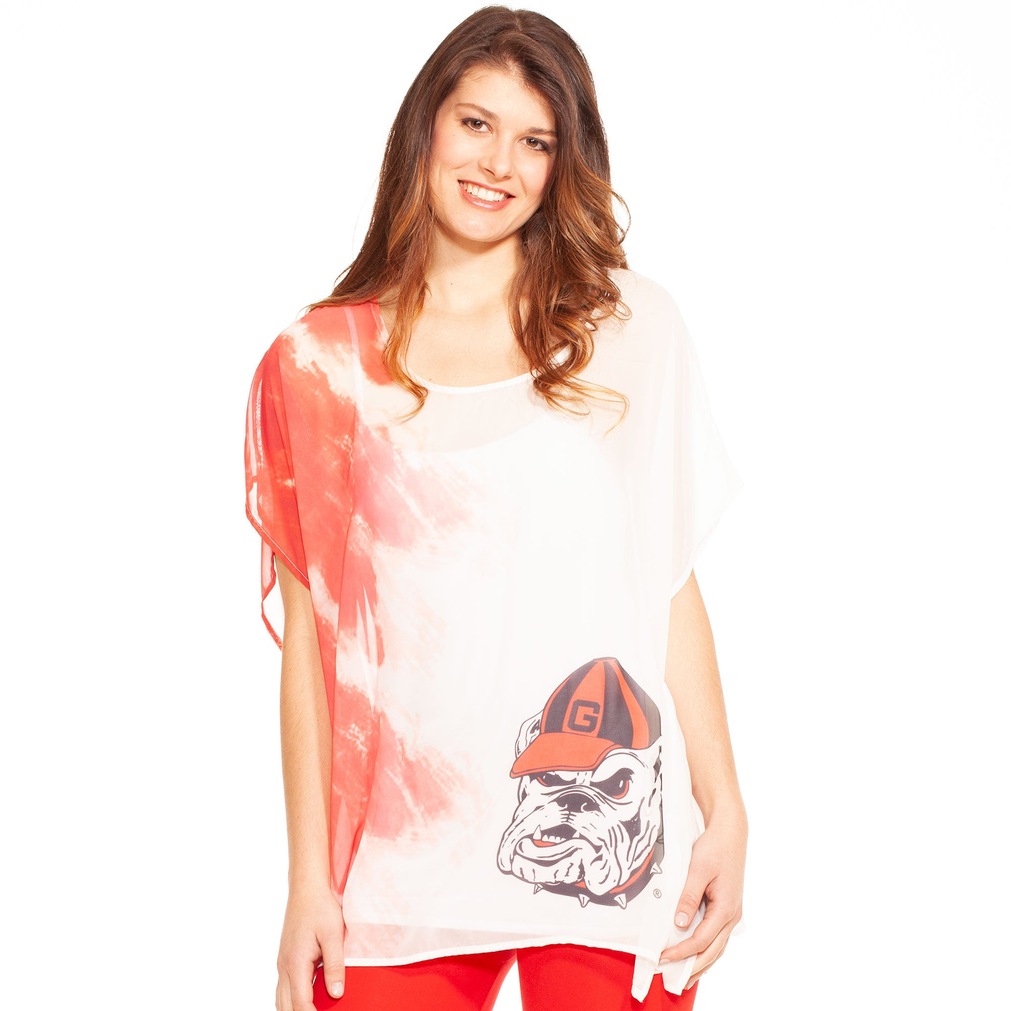 Georgia Bulldogs Sheer Tunic