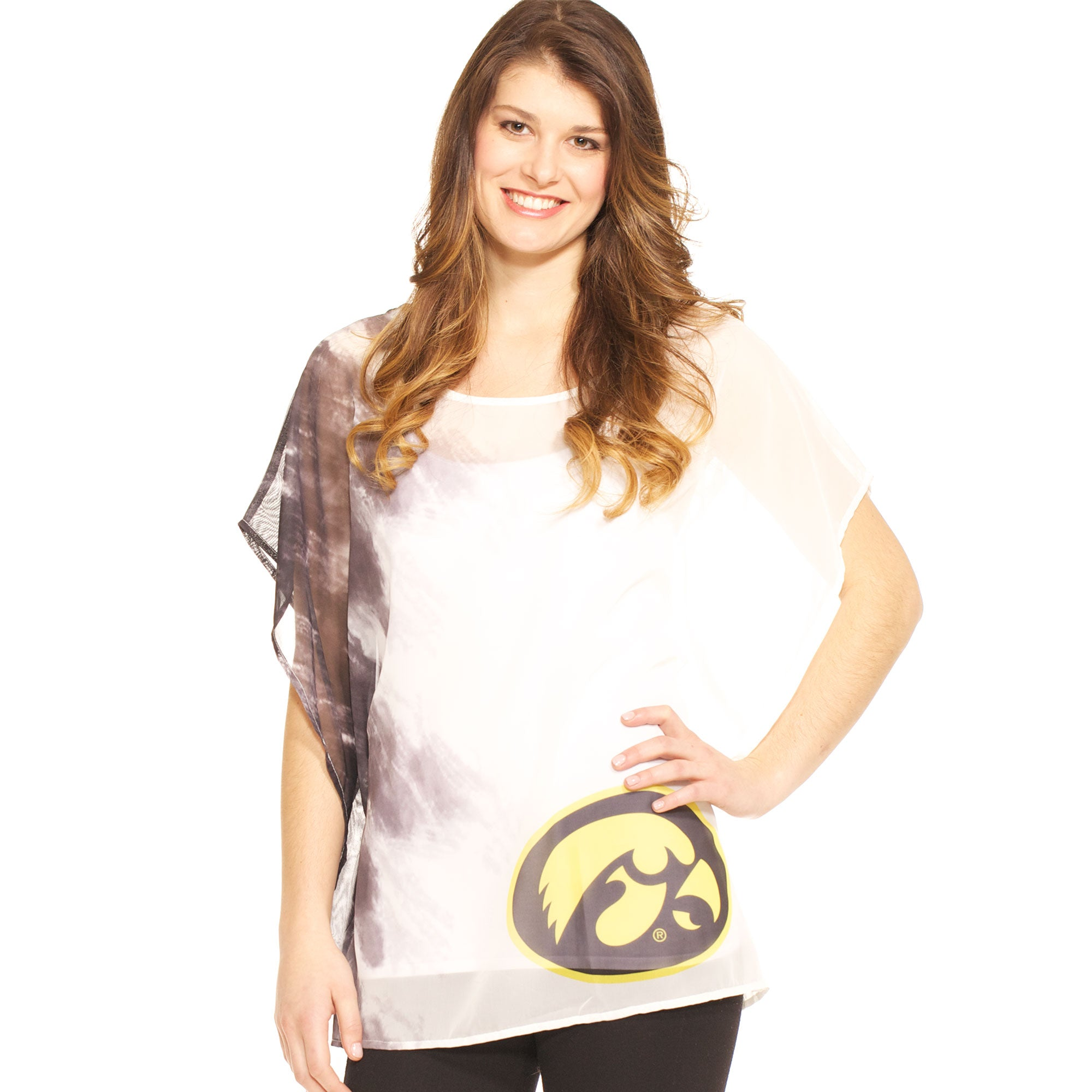 Iowa Hawkeyes Sheer Tunic