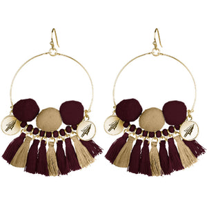 FLORIDA STATE SEMINOLES MACI MULTI TASSEL EARRINGS