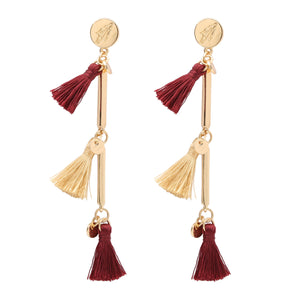 FLORIDA STATE SEMINOLES MELODY TASSEL EARRINGS