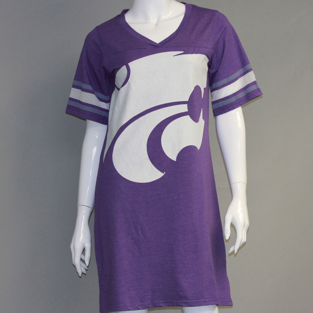 Kansas State Wildcats Heathered Football Jersey Nightshirt