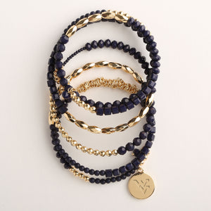 WEST VIRGINIA MOUNTAINEERS WRAP BRACELET