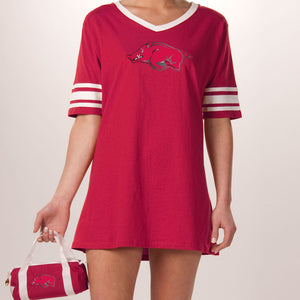 Arkansas Razorbacks Jersey Nightshirt in a Duffel