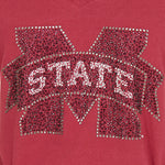 Load image into Gallery viewer, Mississippi State Bulldogs Jeweled Raglan V Neck