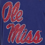 Load image into Gallery viewer, Mississippi Rebels Jeweled Raglan V Neck