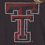 Load image into Gallery viewer, Texas Tech Red Raiders Jeweled Raglan V Neck