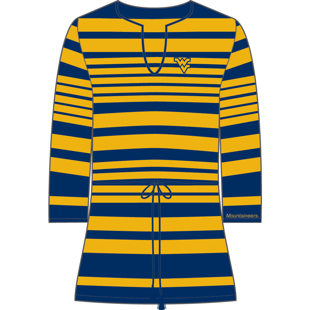 West Virginia Mountaineers Sheer Stripe Tunic