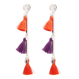 CLEMSON TIGERS MELODY TASSEL EARRINGS