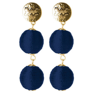 WEST VIRGINIA MOUNTAINEERS SONATA EARRINGS