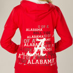 Load image into Gallery viewer, Alabama Crimson Tide Flocked Zip Hoody
