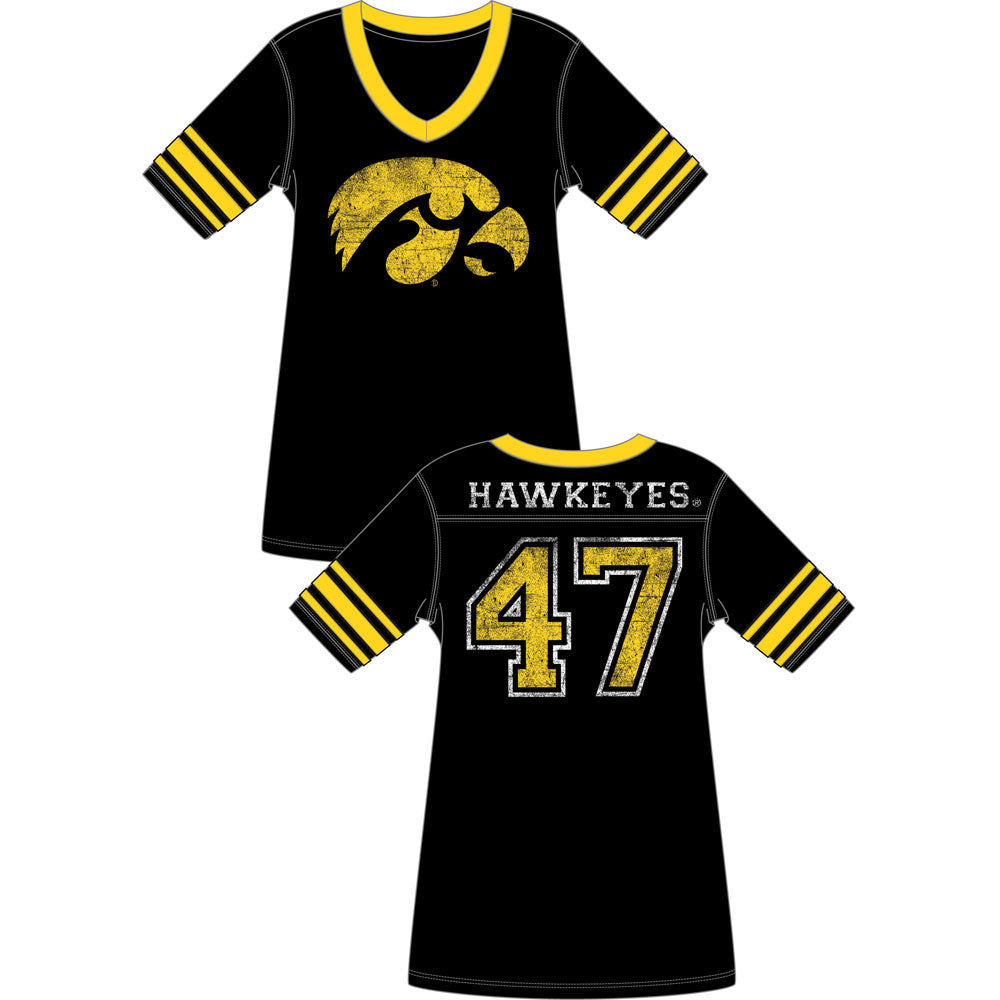 Iowa Hawkeyes Football Jersey Nightshirt