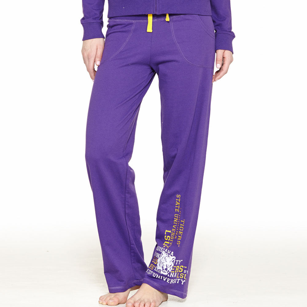 LSU Tigers Flocked Pant