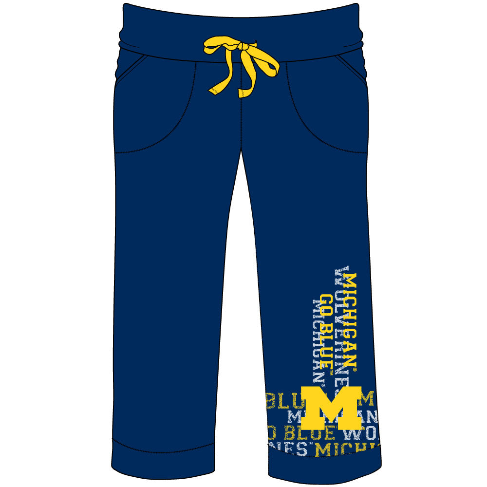 Michigan Wolverines Flocked Pant