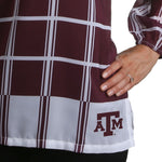 Load image into Gallery viewer, Texas A&M Aggies Plaid Sheer Top