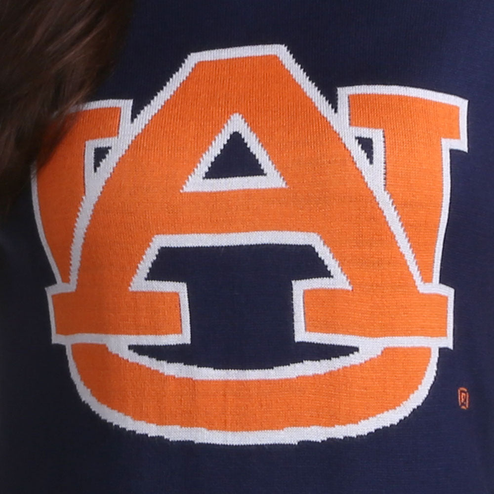 Auburn Tigers V Neck Logo Sweater