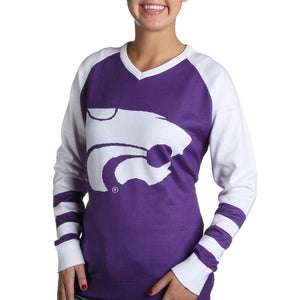 Kansas State Wildcats V Neck Logo Sweater