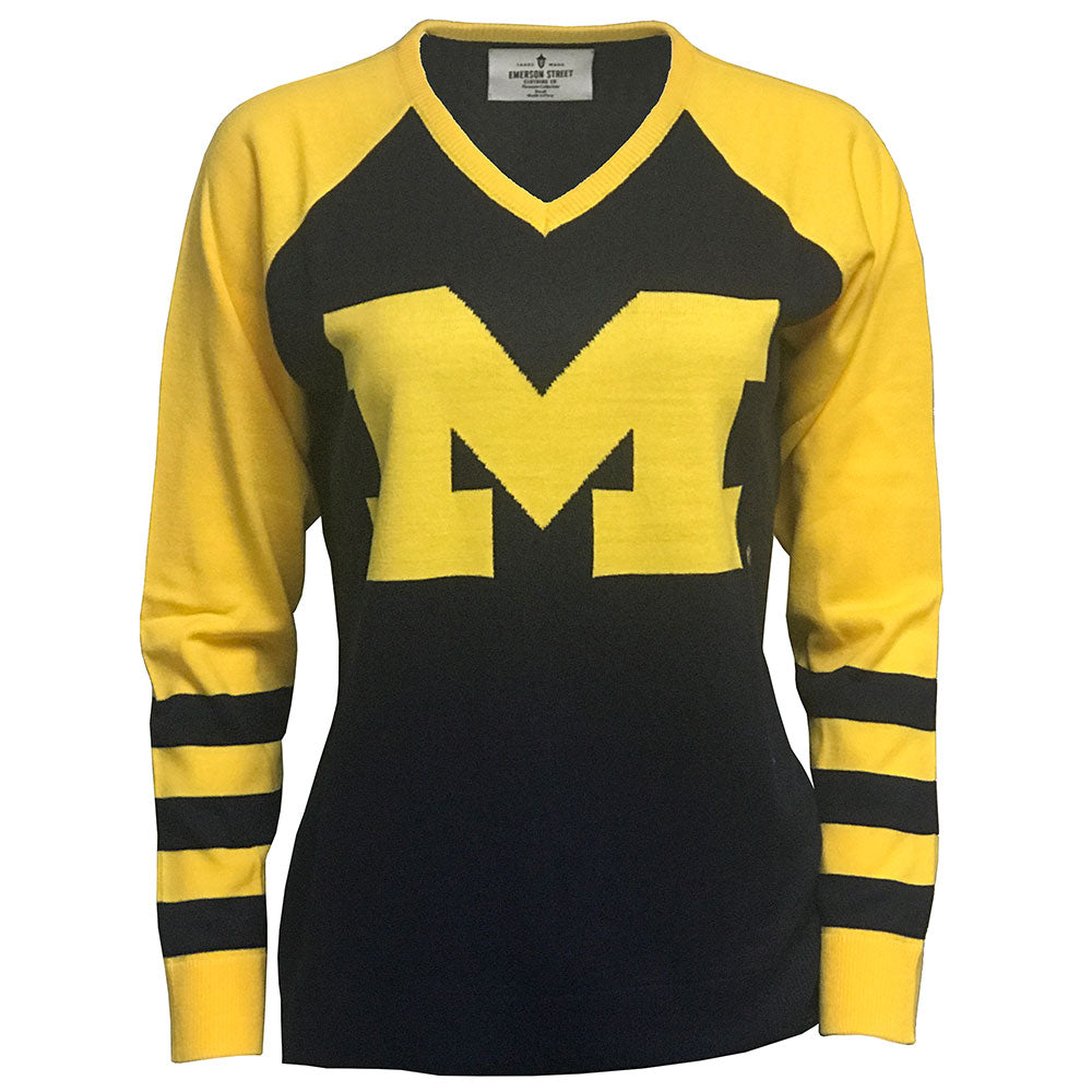 West Virginia V Neck Logo sweater
