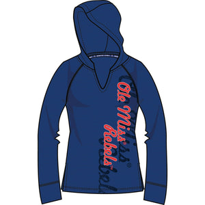 Mississippi Rebels Lightweight Heather Hoodie