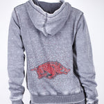 Load image into Gallery viewer, Arkansas Razorbacks Couture Full Zip Hood