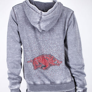 Arkansas Razorbacks Couture Full Zip Hood