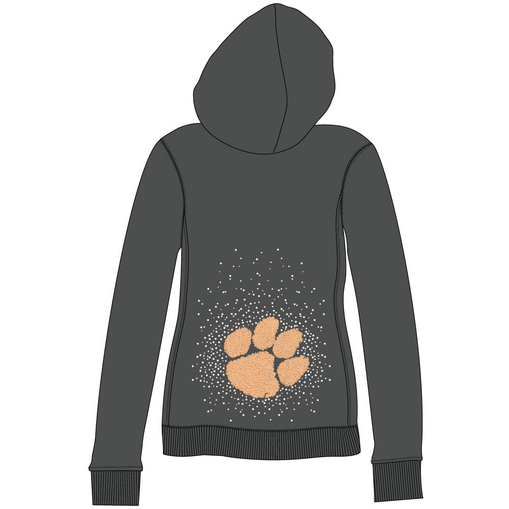 Clemson Tigers Couture Full Zip Hood - SELLING OUT FAST! Size Small available