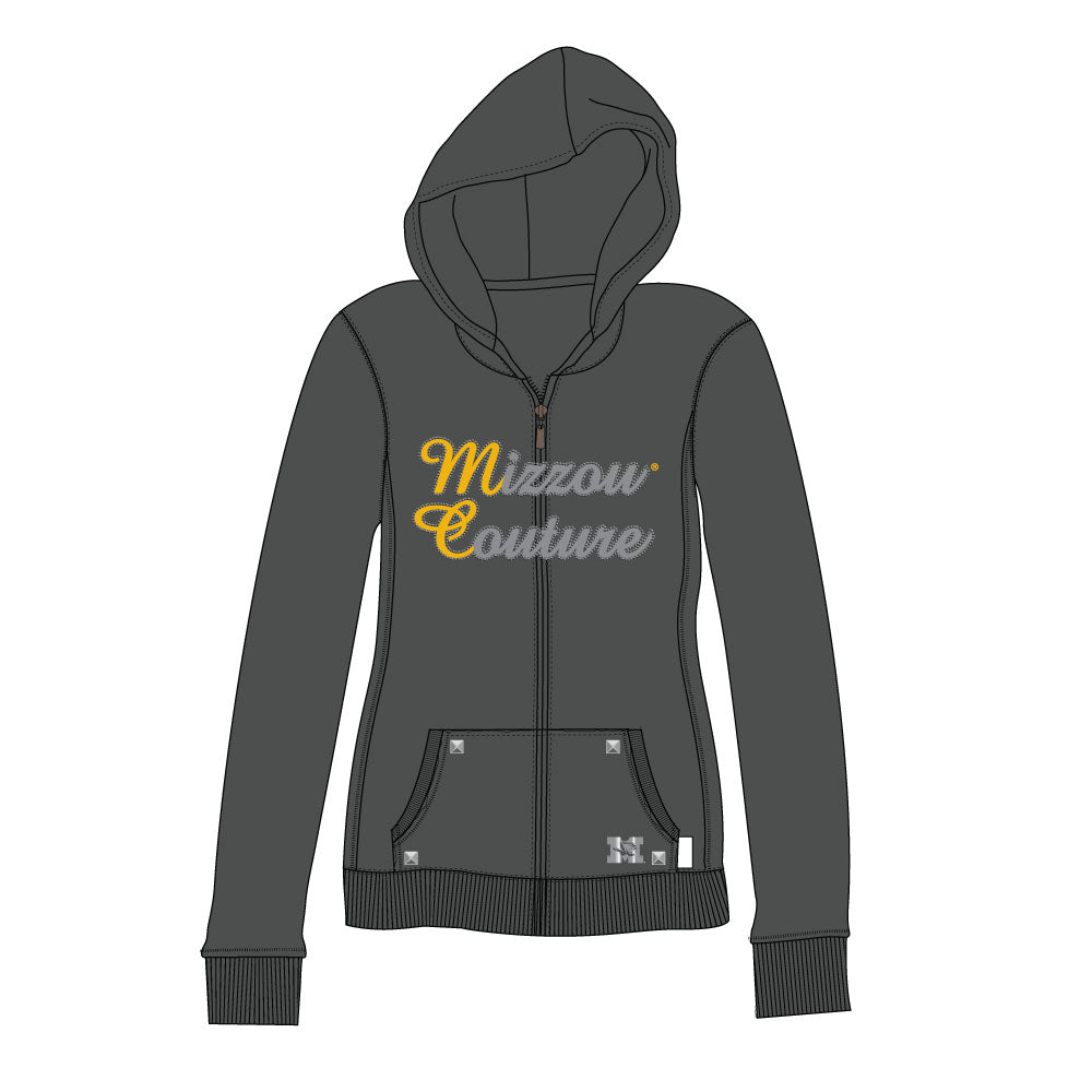 Missouri Tigers Couture Full Zip Hood