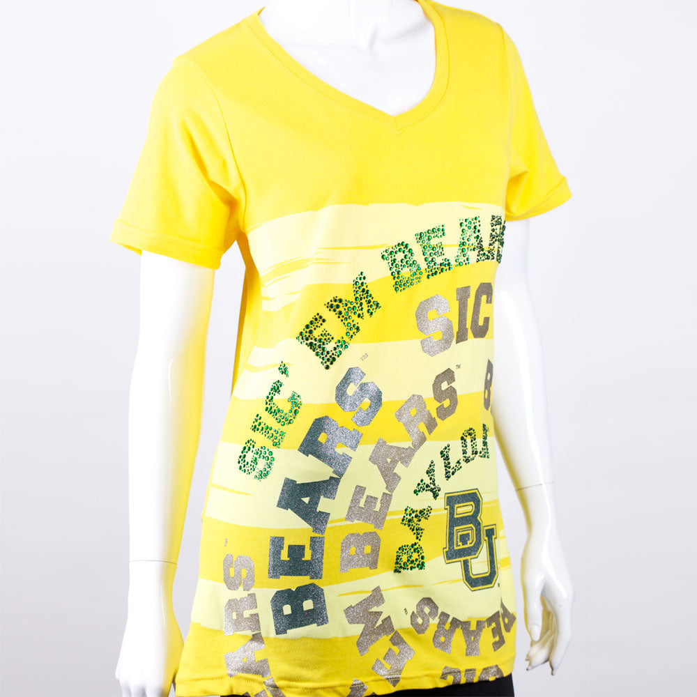 Baylor Bears Jewel & Foil Tee