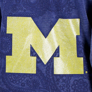 Michigan Wolverines Burnout Hoody