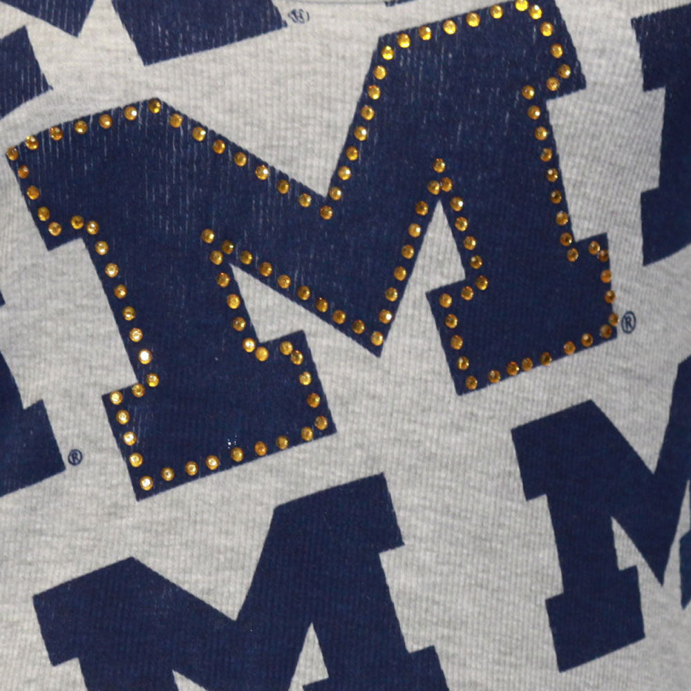 Michigan Wolverines Rhinestone Tank