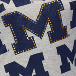 Load image into Gallery viewer, Michigan Wolverines Rhinestone Tank