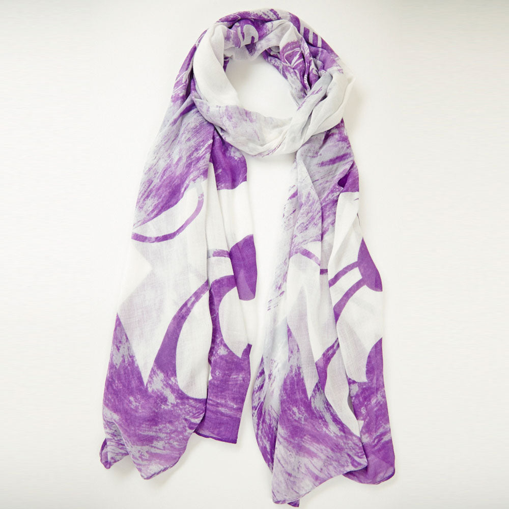 Kansas State Wildcats Watercolor Scarf