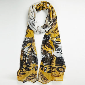 Missouri Tigers Watercolor Scarf