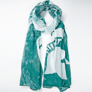 Michigan State Spartans Watercolor Scarf