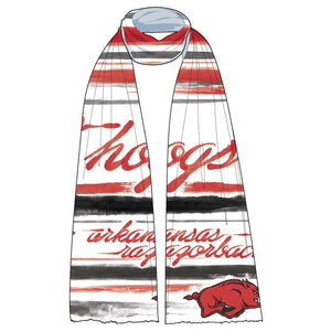 Arkansas Razorbacks Wave Scarf